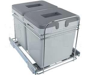 Выдвижная система для утилизации мусора (2 ведра по 15 литров)